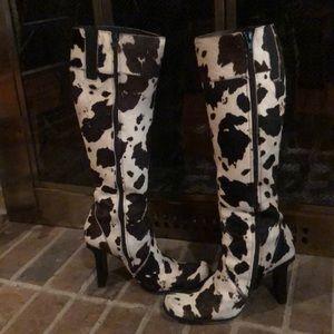 Bebe cowhide boots